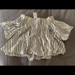Urban Outfitters Striped Off The Shoulder Top